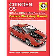 image of Haynes Citroen C5 (01 to Mar 08) Manual