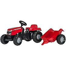 image of Rolly Kid Massey Ferguson Tractor & Trailer Pedal Ride On