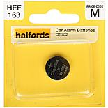 Halfords Car Alarm Coin Cell Battery CR1632