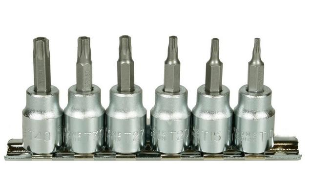 Halfords Advanced 6 Piece Torx Bit Socket Rail 3/8