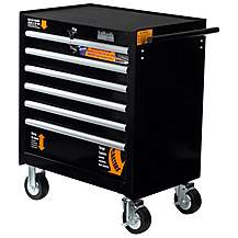 image of Halfords Industrial 6 Drawer Ball Bearing Tool Cabinet