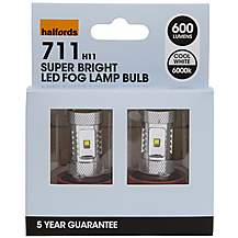 image of Halfords 711 H11 LED Fog Light Car Bulbs x 2