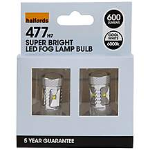 image of Halfords 477 H7 LED Fog Light Car Bulbs x 2