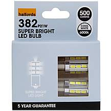 image of Halfords 382 P21W LED Car Bulbs x 2