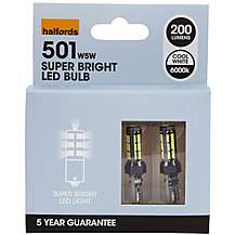 image of Halfords 501 W5W LED Car Bulbs x 2