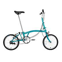 "image of Brompton B75 Folding Bike - Blue - 16"" Wheel"