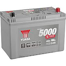 Yuasa HSB335 Silver 12V Car Battery 5 Year Gu