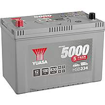 image of Yuasa HSB334 Silver 12V Car Battery 5 Year Guarantee