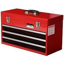 image of Halfords 3 Drawer Metal Portable Tool Chest