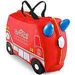 image of Trunki Frank the Firetruck Ride on Suitcase