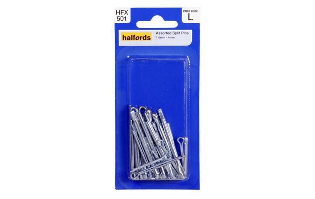 halfords assorted split pins hfx50