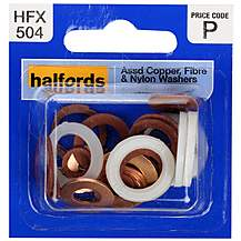 image of Halfords Assorted Washers (HFX504) 4-14mm