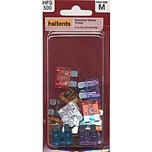 image of Halfords Assorted Blade Fuses (HFS500)