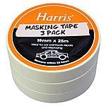 image of Harris Masking Tape 19mmx25m 3 Pack