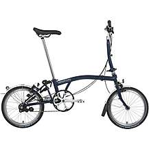 "image of Brompton M3L Folding Bike - Tempest Blue - 16"" Wheel"