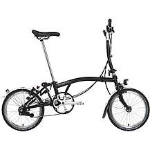 "image of Brompton M6L Folding Bike - Black - 16"" Wheel"