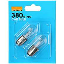image of Halfords HBU380 21/5W Car Bulbs x 2