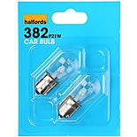 Halfords 382 P21W Car Bulbs x 2