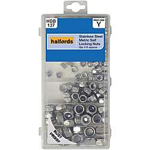 image of Halfords Assorted Stainless Steel Self Lock Nuts