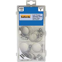 image of Halfords Assorted Stainless Steel Hose Clips