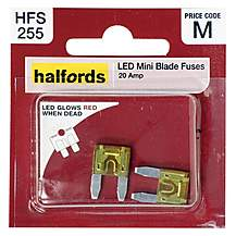 image of Halfords LED Mini Blade Fuses 20 Amp