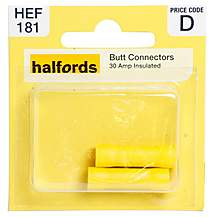 image of Halfords Butt Connectors 30 Amp Insulated