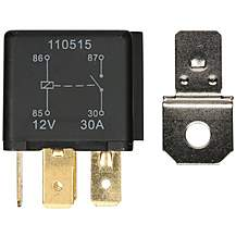 image of Halfords HEF555 Relay 12V 40A 4 PIN