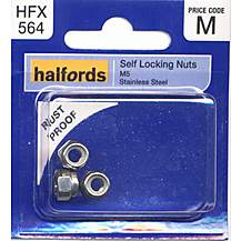 image of Halfords Self Locking Nuts M5