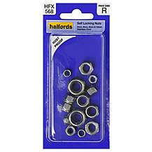 image of Halfords Assorted Self Locking Nuts