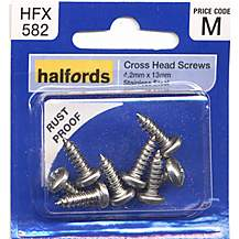 image of Halfords Cross Head Screws 4.2mmx13mm
