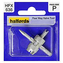 image of Halfords 4 Way Valve Tool