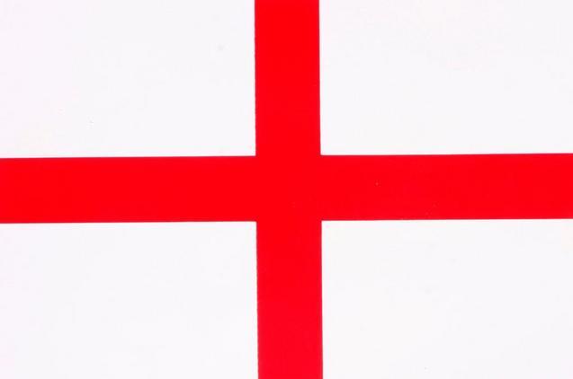 England Flag Car Sticker Medium