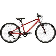 "image of Wiggins Chartres Junior Hybrid Bike - 24"" Wheel - Red"