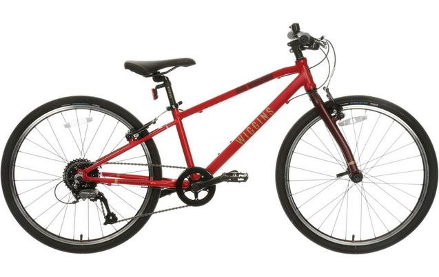 "Wiggins Chartres Junior Hybrid Bike - 24"" Wheel - Red"