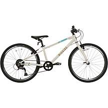 "image of Wiggins Chartres Junior Hybrid Bike - 24"" Wheel - White"