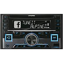 image of Alpine CDE-W296BT Double Din Car Stereo with Bluetooth
