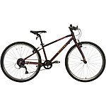 "image of Wiggins Chartres Junior Hybrid Bike - 26"" Wheel - Purple"