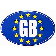 image of Euro GB Car Sticker - Medium