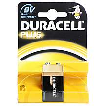 image of Duracell Plus 1 x 9v Battery