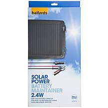 image of Halfords Solar Battery Maintainer 12v 2.4w