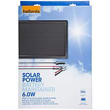 image of Halfords Solar Battery Maintainer 12v 6W