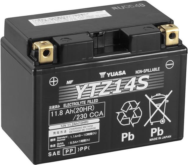motorcycle battery pic  Yuasa YTZ14S High Performance Power...