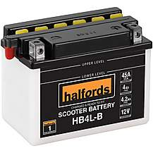 image of Halfords Scooter Battery HB4L-B
