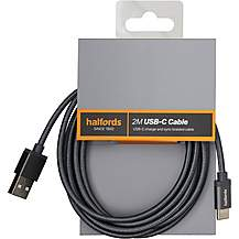 image of Halfords Type C Cable 2M - Charcoal
