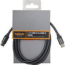 image of Halfords Cable C-C 1.2m - Charcoal