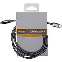 image of Halfords USB-C to Lightning 1.2M Charcoal