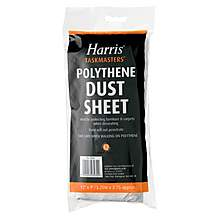 image of Harris Polythene Dust Sheet 12ftx9ft