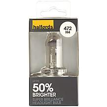 image of Halfords 472 H4 +50 Brighter Car Bulb x 1