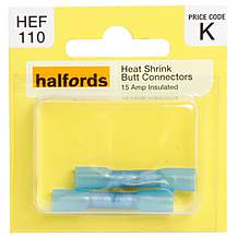 image of Halfords Heat Shrink Butt Connectors (HEF110) 15 Amp
