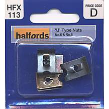 image of Halfords U-Type Nuts (HFX113) No.6 & No.8